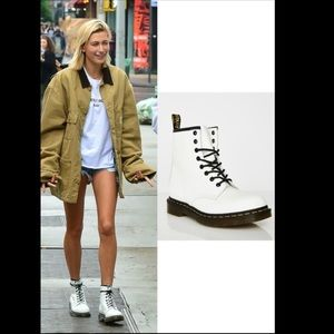 NEW White Leather Docs Spring/Summer Boots